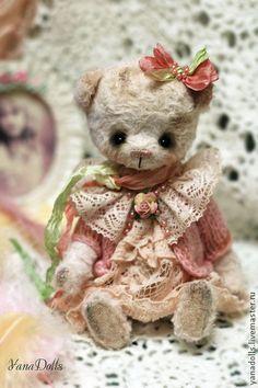 Mimi - бледно-розовый,мишка,мишка тедди,мишка ручной работы,мишка в подарок