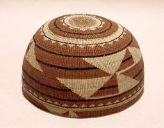 Unknown Karuk artist, Woman's hat, c. 1900; Phoebe A. Hearst Museum of Anthropology