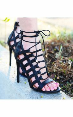 Common-14 Lace Up Strappy Gladiator Heels 33.00 | Grecian and
