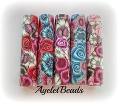 5 one of a kind polymer clay pen blanks fit Sierra by Ayeletbeads