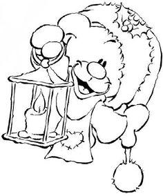 Image - Série Hiver 08 - coloriage 2 - Nounours Pimboli : pleins d'images de Pimboli... - Skyrock.com