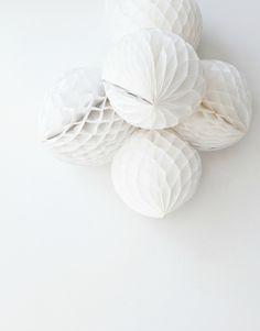 white pom poms.