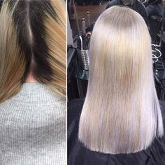 Huge regrowth and cut for Emily. Foils used all over to insulate bleach keeping off the scalp until regrowth lightened. Pre-toned with before used throughout. Ash Blonde, Bleach, Hair Color, Long Hair Styles, Beauty, Haircolor, Long Hairstyle, Long Haircuts, Hair Dye