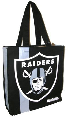 NFL Oakland Raiders Handbag Shopping Bag