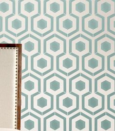 Wall Stencil Honeycomb Hexagon Modern look by OMGstencils on Etsy, $39.00