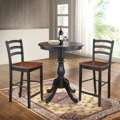 Carolina Winston 30 in. Round Pedestal Bar Table - 53630B-ESP