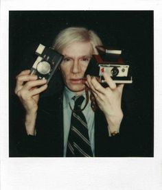 Andy Warhol with SX-70 and Konica, Christopher Makos