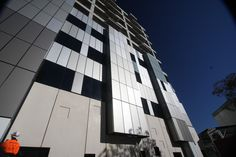 Nu-core® ACM prefabricated Curtain wall modules. Designed by Silver Thomas Hanley Architects