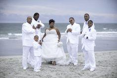 Jordan Trusell Wedding All white beach wedding at Myrtle Beach, SC www.eventsbysf.com