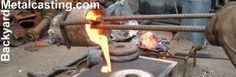 melting metal in a home foundry, backyard metalcasting, metal casting