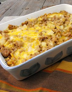 Gluten Free Sausage Strata made with gluten free stuffing: Makes a great breakfast or dinner!