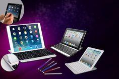 4pc iPad Keyboard Case Bundle