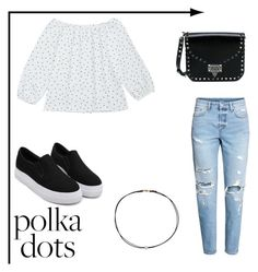 """""""Polka dots....."""" by swagwithyourk-fashion on Polyvore featuring H&M, Valentino and Dogeared"""
