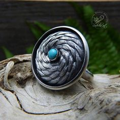 Turquoise Ring Gypsy Ring Bohemian Ring Sterling Silver