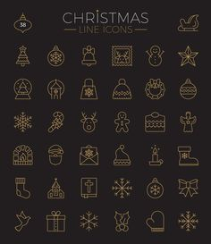 Christmas Icons, Icons, Christmas, Weihnachten
