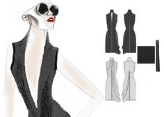 Fashion Sketchbook - fashion illustration & flat drawings; fashion design portfolio // Hannah Eason
