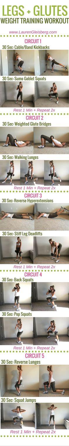 Week 4 Day 1 | Home & Gym Version | Legs + Glutes Weight Training Workout | #LGFitmas Lauren Gleisberg