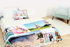 Fleece Photo Blanket | Create a customized design in just one click using photos from your phone, computer or Facebook.