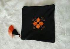 Embroidery handbag #orange #brezilyanakisi