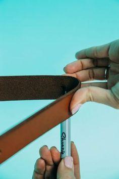 Belt Upcycle: Leather Strap Shelf