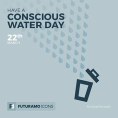 Have a conscious water day! Check out our FUTURAMO ICONS – a perfect tool for designers & developers on futuramo.com