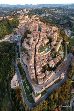 Urbino in volo #Urbino #FotoPaoloMini