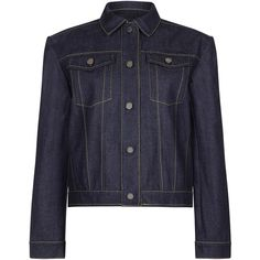 Now $505 - Shop this and similar Paper London jackets - This PAPER LONDON Maho Jacket features a dark wash and contrasting stitch detail.
