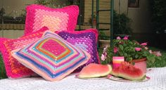 Almohadones coloridos!
