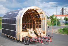 Zeronaut achtwieler op zonne-energie