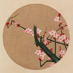 伊藤若冲『紅梅(こうばい)』-「花卉図天井画」Jakuchu Ito