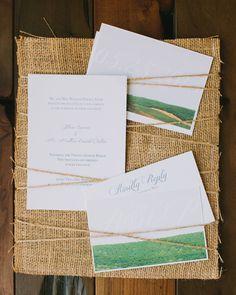 Wedding Invitation | Wine Country Inspiration | Photography: Ashley Kelemen