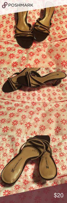 Andrea Rossu sandal heels Light brown and dark brown sandal heels andrea Rossu Shoes Heels