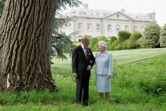 Philip and Elizabeth re-visit Broadlands in November 2007. Sixty years before, the royal couple spent their wedding night at the home, which belonged to Prince Philip's uncle Earl Mountbatten.