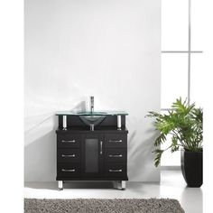 @Overstock - Virtu USA Vincente 32-inch Single Sink Bathroom Vanity Set - The Vincente vanity establishes a strong and solid foundation for any modern bathroom. The vanity features solid oak wood construction with one soft closing door and six storage drawers.  http://www.overstock.com/Home-Garden/Virtu-USA-Vincente-32-inch-Single-Sink-Bathroom-Vanity-Set/4409484/product.html?CID=214117 $759.00