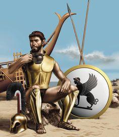 Classical Greece and Ancient Greek Warfare - The Trireme's Ancient Greek Hoplites Roman History, Greek History, Classical Greece, Greek Warrior, Mycenaean, Greek Art, Prehistory, Bronze Age, Military Art