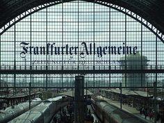 Frankfurt, Germany bahnhof (railway station)