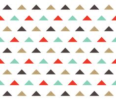 Christmas Triangles - Gold Glitter by Andrea Lauren  fabric by andrea_lauren on Spoonflower - custom fabric