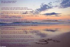 The Ten Commandments of Our Mother Earth