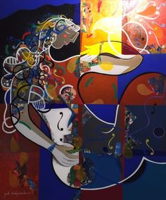 """Yoel Benharrouche - """"Le Reve Est Un Cadeau Du Ciel  Immense"""". Original acrylic painting (120x100cm) #art #fineart #edengallery #yoelbenharrouche"""