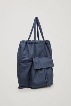 COS image 10 of Gathered tote bag in Navy