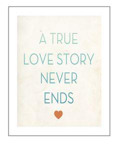 'True Love' Print by Fresh Words Market