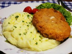 Czech Recipes, Ethnic Recipes, Keto Recipes, Cooking Recipes, Risotto, Mashed Potatoes, Food And Drink, Meat, Chicken