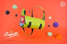 Sac Poupetto ! #sac #besace #personnalisable #personnalise #tissu #design #couleur #vert #orange #fleur #papier #origami #forme #geometrique #rond #cercle # pois #mrtipoi