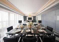 Contemporary dining room by STEVE LEUNG DESIGNERS