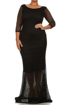 342deb06373 Plus Size Sexy SLAY Nylon Lace Lining Dress – PLUSSIZEFIX Misses Clothing