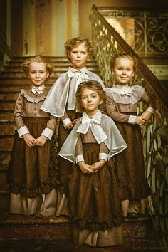 Vintage children photography by Russian photographer Karina Kiel