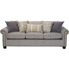 JACQSFROULETTESO Jacqueline 96  Pewter Upholstered Sofa $799