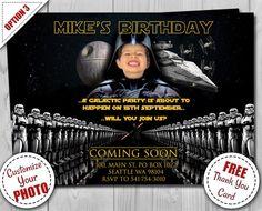 Star Wars Birthday Invitation Darth Vader Party by Printadorable