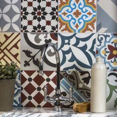 Patchwork Multicolour Ceramic Tile 20x20 cm Ca Pietra