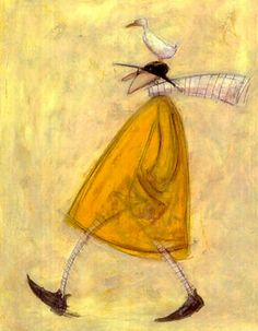 Sam Toft -- Walking with Horace Postcard Art, Found Art, Arte Popular, Naive Art, Collage Art, Cute Art, Watercolor Art, Illustrators, Illustration Art